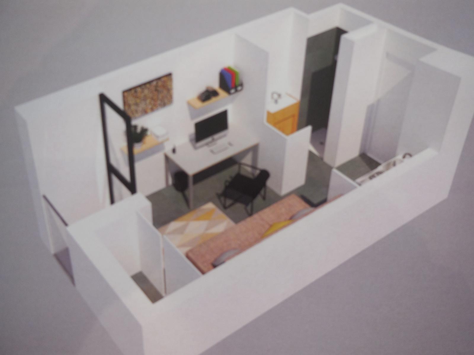 appartement la rochelle cabinet demougin. Black Bedroom Furniture Sets. Home Design Ideas