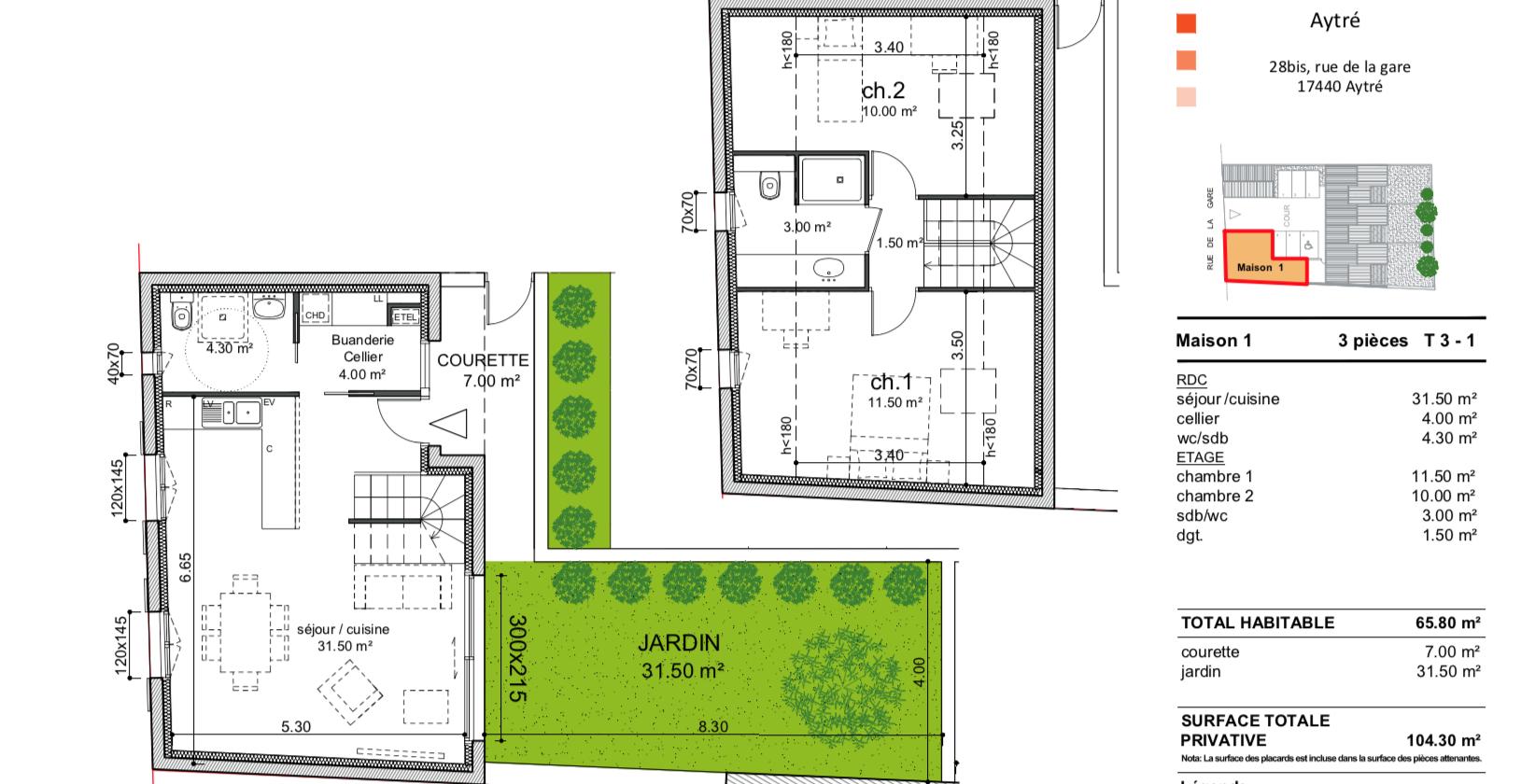 maison/villa aytre MAISON AYTRE t3